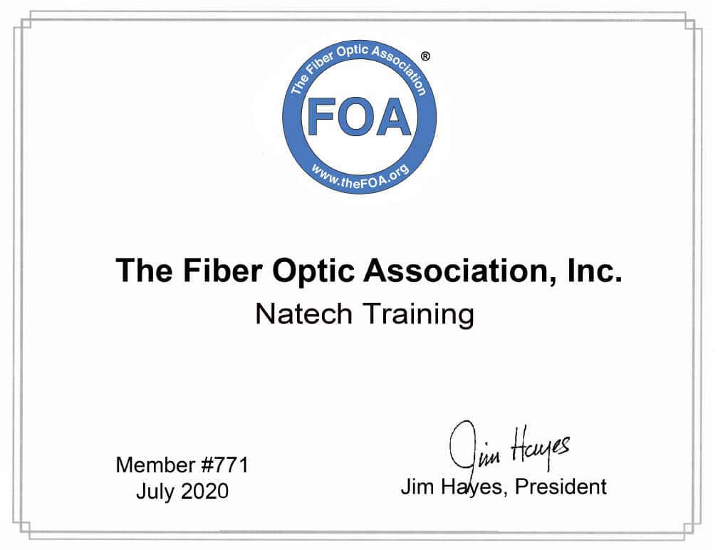 Officiellement NATECH TRAINING centre de formation approuvé par la FOA