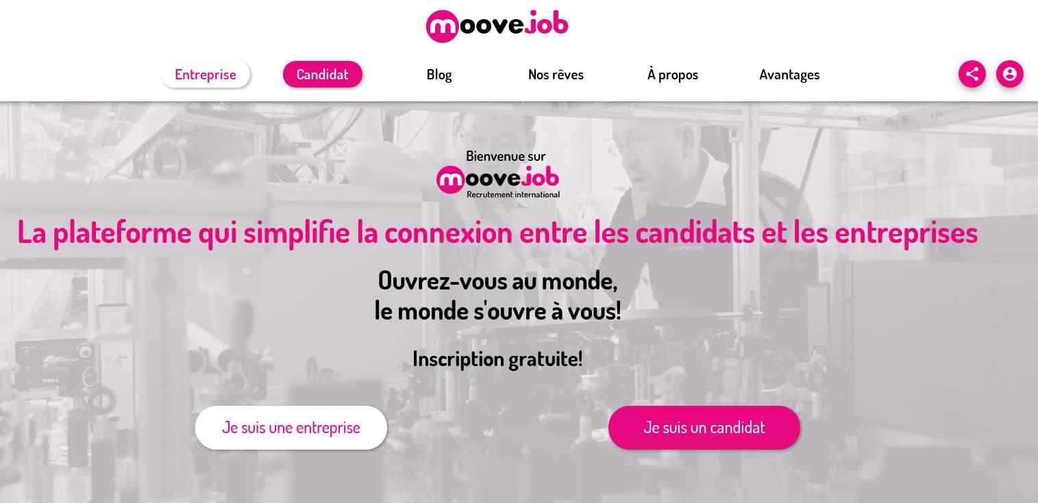 Découvrez la nouvelle plateforme de recrutement international moovejob